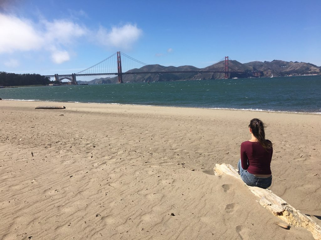 Zwiedzanie San Francisco Golden Gate Bridge i ja