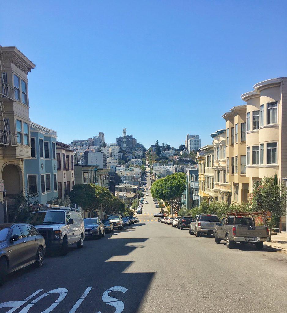 Zwiedzanie San Francisco uliczka