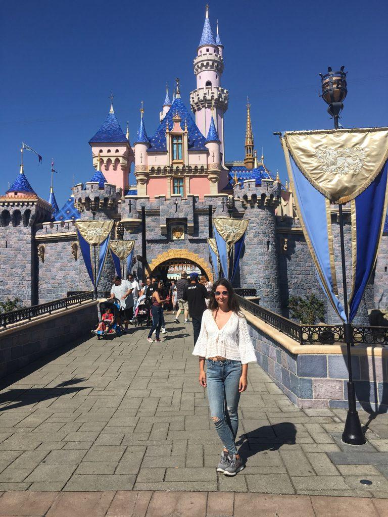 Disneyland w Kalifornii zamek i ja