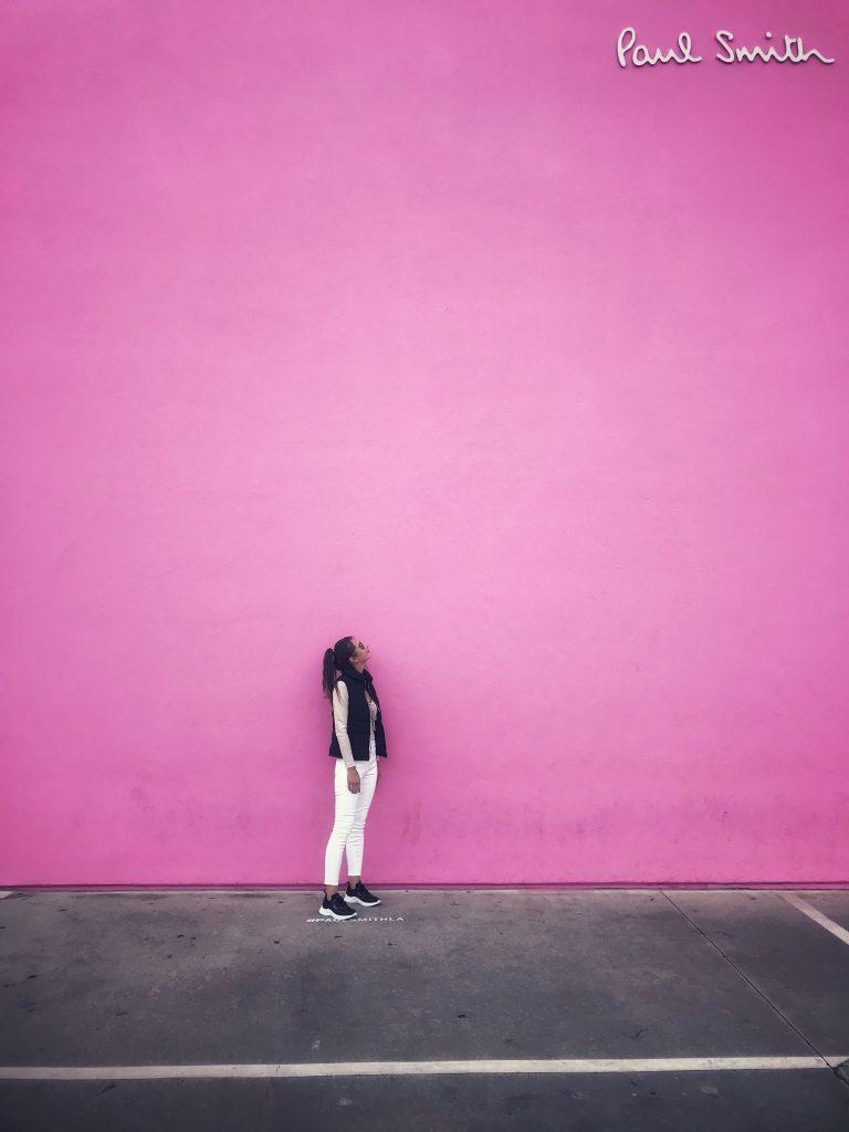 Paul Smith Pink Wall Atrakcje Los Angeles