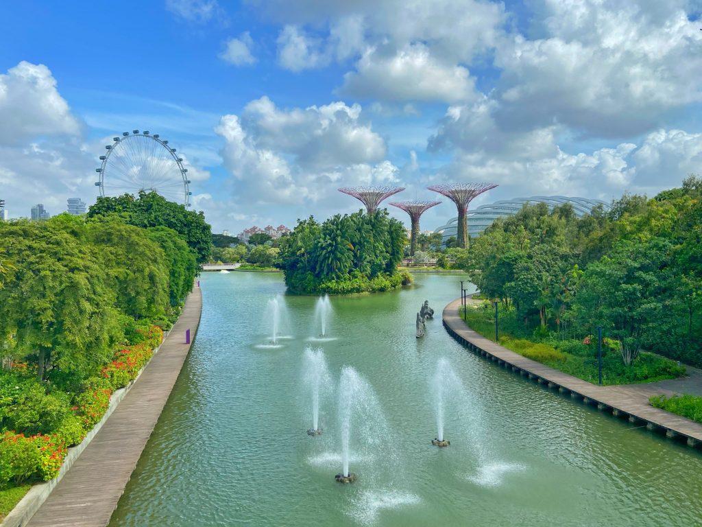 Gardens By The Bay przesiadka w Singapurze