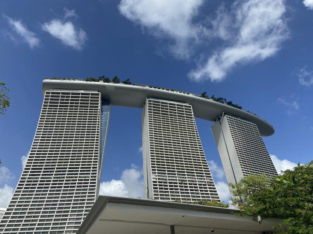 Marina Bay Hotel przesiadka w Singapurze