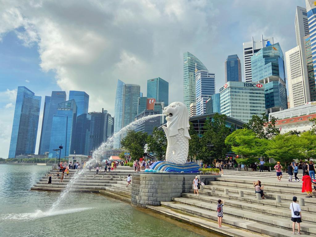 Merlion Przesiadka w Singapurze