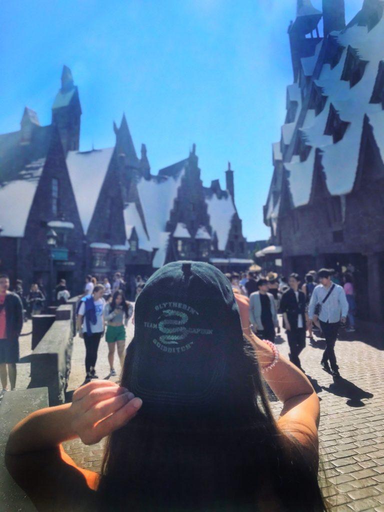 świat Harrego Pottera - czapka Slytherin
