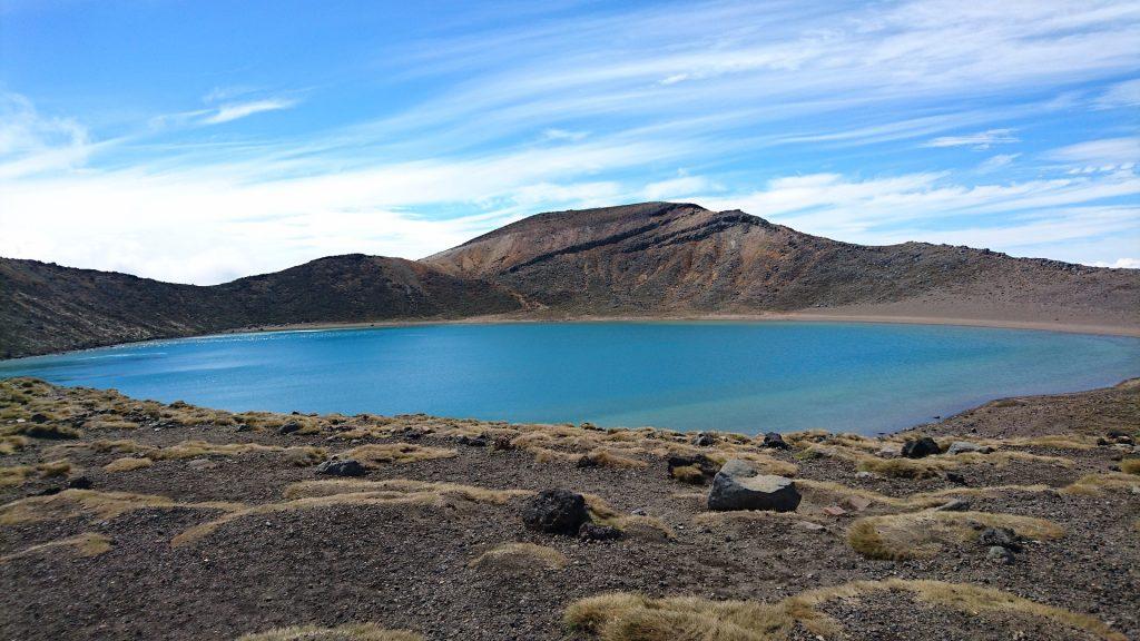 Szlak Tongariro Alpine Crossing Blue Lake