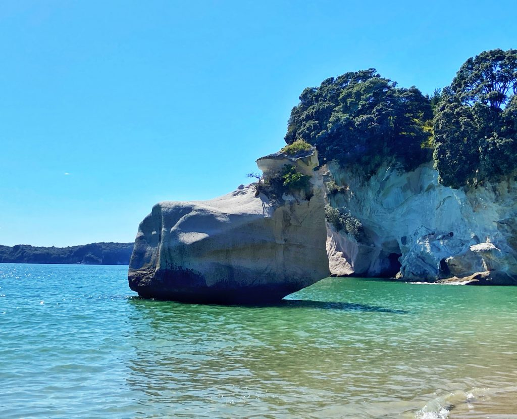 Cathedral Cove Smiling Sphinx Rock