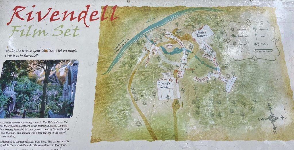 mapa Rivendell w Nowej Zelandii